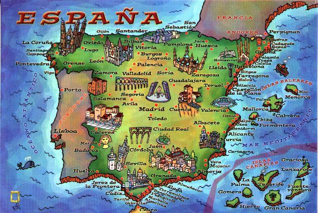 Mapa turistico España
